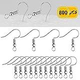 Newbested 800 PCS Fish Hook Earrings (Silver)