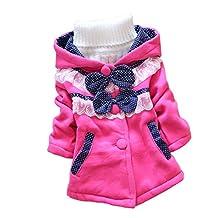 ACEFAST INC Kids Baby Girls Coat Hoodie Sweater Bowknot Fleece Children Clothes