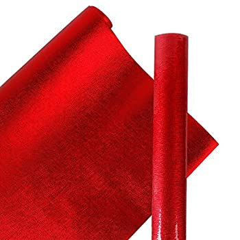 """LaRibbons Solid Color Gift Wrapping Paper Roll 30"""" x 16.5' - 42 Sq Ft - Passionate Red"""