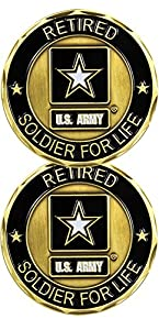 U.S. Army Retired Soldier For Life Challenge Coin from Eagle Crest