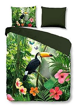 Pure 4898 M Parure de lit avec forêt tropicale et Pelikan, 200 x