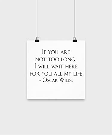 Amazoncom Love Quotes Wall Decor I Will Wait Here For You All My