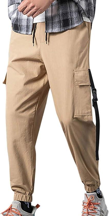 Wawer Pantalones de hombre Cool Spleißen sueltos herramientas ...
