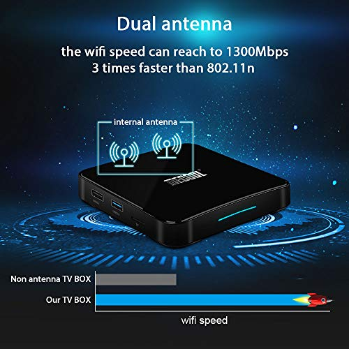 Android 9 0 TV Box with Voice Remote, MECOOL Google Certificated Smart TV  Box with Amlogic S905X2 Quad-Core, 4GB RAM 64GB ROM, Support 4K Full HD BT