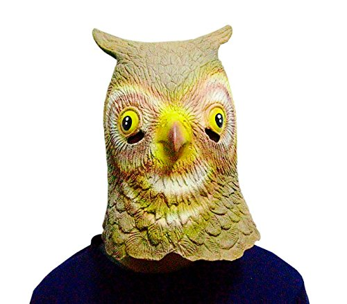KASST Latex Owl Animal Head Mask for Mask Festival,Halloween,Easter or Dance Party (Universal Halloween Horror Nights Time)