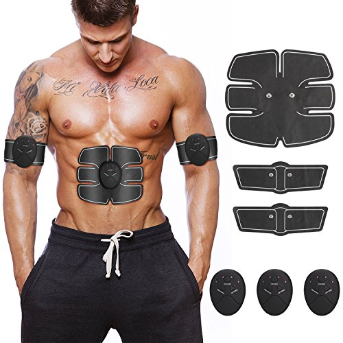 Cheap Hommie Muscle Toner Stimulator, Abdominal Toning Belt, EMS Abs Trainer Wireless Fitness Training Gear for Abdomen/Arm/Leg Training | Home Office Exercise Workout Equipment