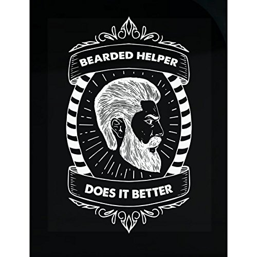 Volume Tee Bearded Helper Does It Better Typography Design - Sticker