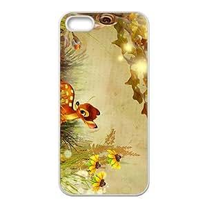 QQQO Cartoon anime Bambi Phone case for iPhone 5s