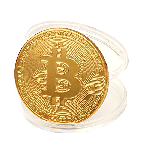 Promisen Gold Plated Bitcoin Coin Btc Coin Art Collection Physical Collectible Gift