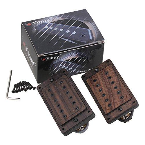Yibuy 50/52mm Rose Wood Electric Guitar Humbucker Pickups & Black Screws & Wrench Set of 2