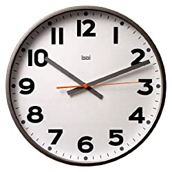 BAI Jumbo Wall Clock, Madison Gunmetal