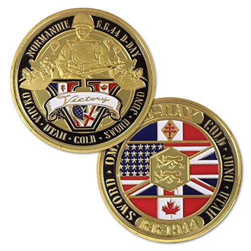 U.S. Army World War II Challenge Coin WWII Commemorate Victory of Great War II Soldier Veteran Gift
