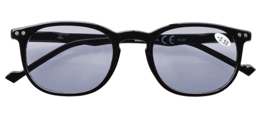 e0e0da51338 Amazon.com  Eyekepper 5-Pack Spring Hinges80 s Reading Glasses Includes  Sunshine Readers +0.50  Clothing