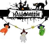 TAOtTAO Halloween Ghost String Flag Pumpkin Garland Ornaments Haunted House Decorations