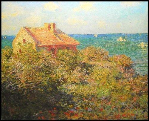 """Claude Monet's FISHERMAN'S COTTAGE 18"""" X 24"""" Fine Art Jigsaw Puzzle (over 500 pcs)"""