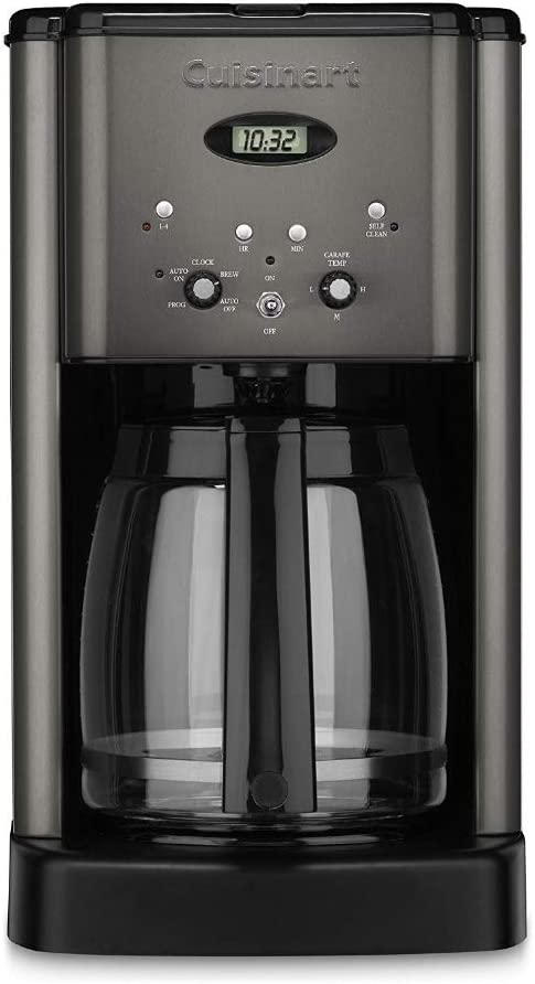 Cuisinart DCC-1200BKS Brew Central 12-Cup Coffee Maker, Black Stainless Renewed