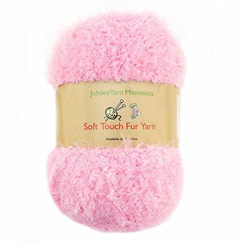 Yarn Baby Pom Pom (JubileeYarn Soft Touch Fuzzy Fur Yarn - 74yd/skein - Baby Pink - 2 Skeins)