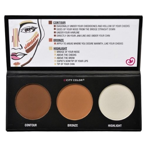 (3 Pack) CITY COLOR Contour Effects - Contour/Blush/Highlight
