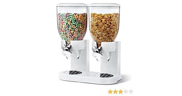 Denny International Fresh & Easy Classic Comida dispensador de Cereales Doble (Blanco): Amazon.es: Hogar