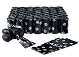 FINNKARE 1000 Counts Pet Dog Waste Bags Poop Bags Heavy Duty Leak-Proof Biodegradable Scented Includes Dispenser and Leash Clip,Black