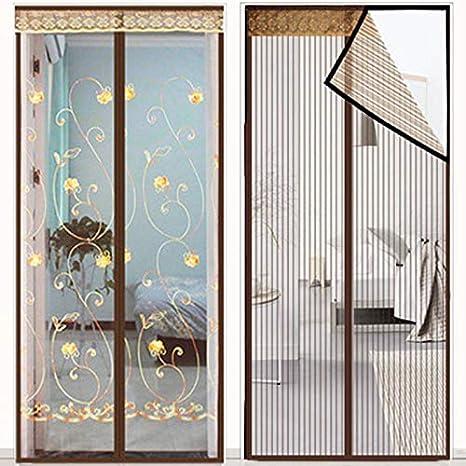 Cinta de velcro mosquitera para puerta, protección contra insectos, para puerta de balcón, cortina mosquitera sin agujeros, cortina magnética, para puerta corredera, puerta de terraza (A,70 x 200 cm): Amazon.es: Bricolaje y