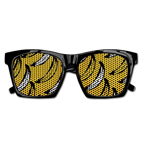 Szq.G Unisex Yellow Ripe Banana Fashion 80's Style Party Favor Resin Frame Costume Mesh Lens (Halloween Costume Atlanta)