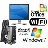 """COMPLETE DELL CORE 2 DUO 3.0GHZ DESKTOP PC 8GB 1TB WINDOWS 7 WiFi MS OFFICE + 19"""" MONITOR"""