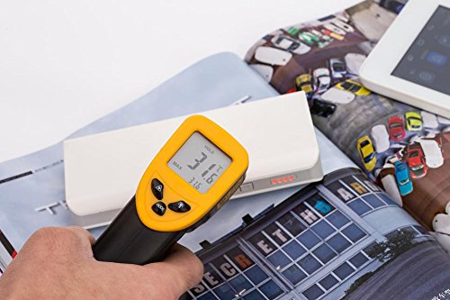 Infrared Thermometer, Magicoo Digital Non-contact Instant Read Temperature Gun -58°F ~ 716°F(-50℃~380℃) Emissivity 0.1-1.0, Laser Point IR Thermometer with LED Backlight by Magicoo (Image #6)