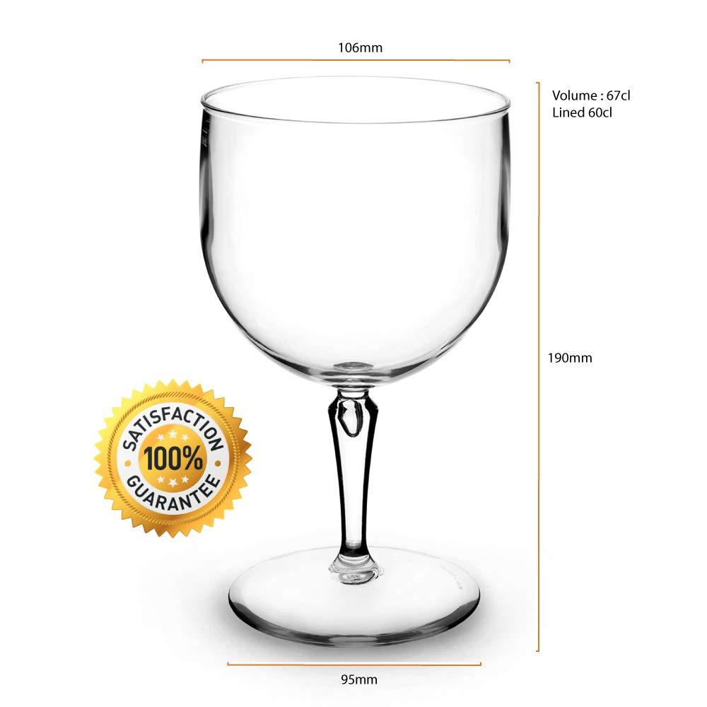 RB Irrompible Grande Copas Balon Gin Cóctel Premium Plástico 68cl, Set de 6: Amazon.es: Hogar