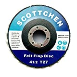 """SCOTTCHEN Felt Flap Disc Abrasives 4-1/2"""" x"""
