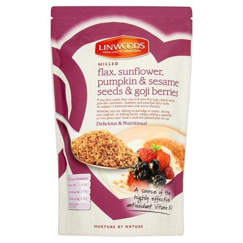 Linwoods Organic Milled Flaxseed, Sunflower, Pumpkin, Sesame Seeds and Goji Berries 425g