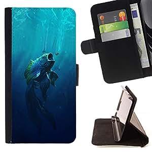 Momo Phone Case / Flip Funda de Cuero Case Cover - Boca grande Fish;;;;;;;; - Sony Xperia Z5 5.2 Inch (Not for Z5 Premium 5.5 Inch)