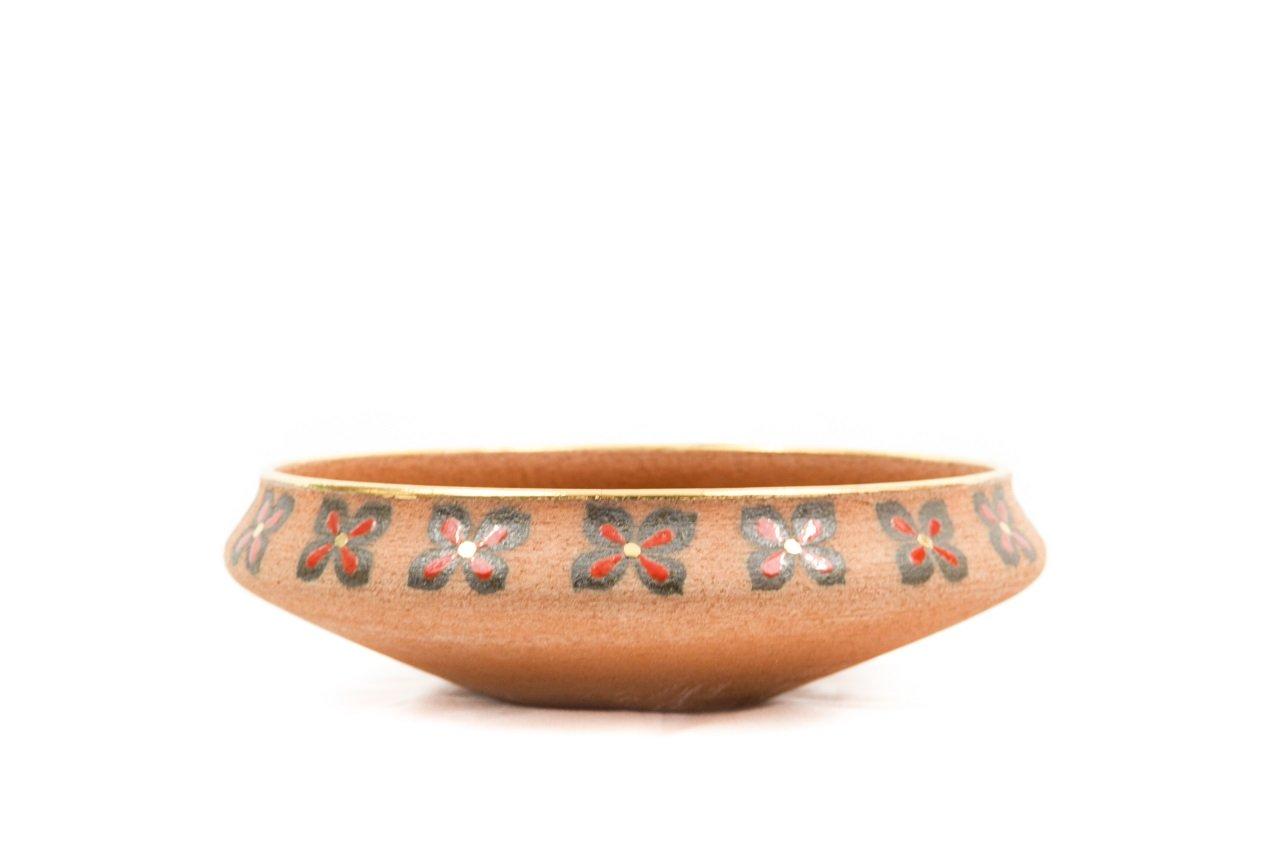 Ceramiche Liberati - Centrotavola ceramica refrattaria rossa, modellato a mano