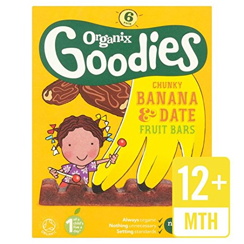 Organix Goodies Fruit Bar Banana & Date 6 x 17g