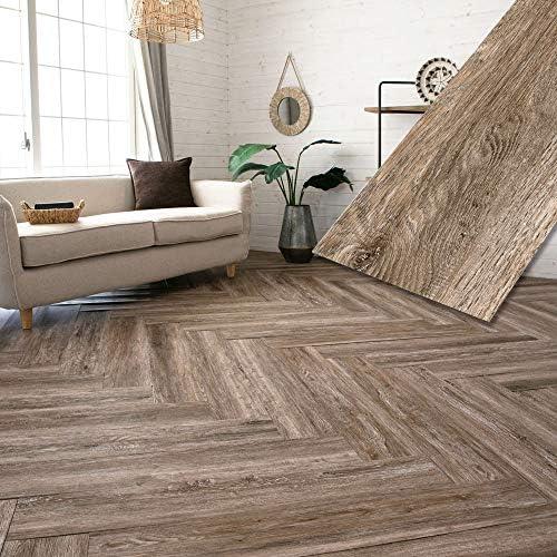 フロアタイル 貼るだけ フローリングタイル [72枚セット/トーニーパイン] 約6畳分 古材風 木目調 接着剤付き DIY 床材 簡単 フロアーマット