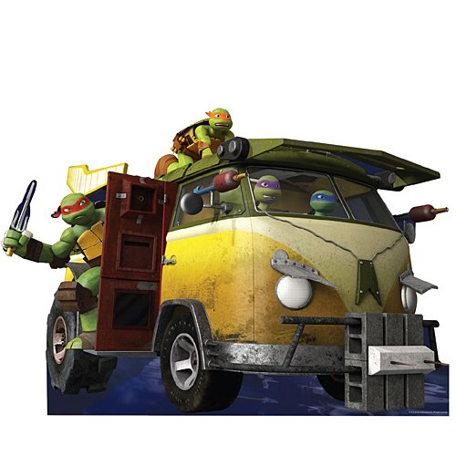 5 ft. 11 in. TMNT Teenage Mutant Ninja Turtles Party Wagon Standee Standup Photo Booth Prop Background Backdrop Party Decoration Decor Scene Setter Cardboard Cutout]()