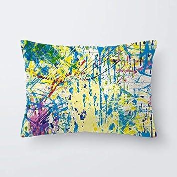Funda de almohada cojin 30x50 cm algodón cuna bebe dormitorio infantil descanso Fabricada en España Varios diseños (Pollock)