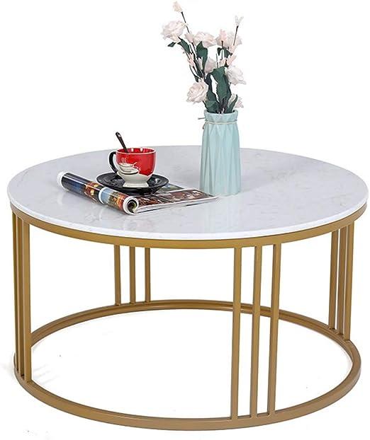 mesas de Centro Mesa de Centro nórdica de Hierro Forjado de Oro ...