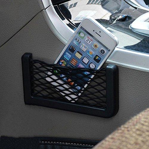 (Car Net String Box Pocket Organizer Bags Baskets Mobile Phone Holder Seat Side Back Storage Network Shelf Nets Auto Mesh Nets)