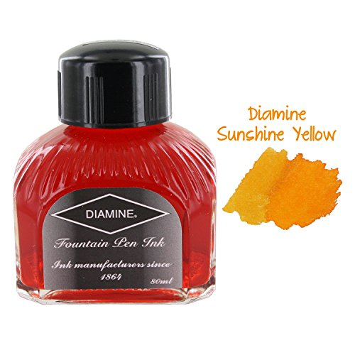 Price comparison product image Diamine Fountain Pen Ink, 80 ml Bottle, Denim