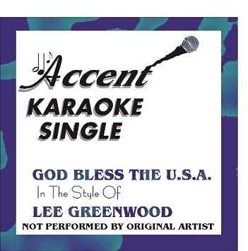 lee greenwood god bless the usa karaoke download