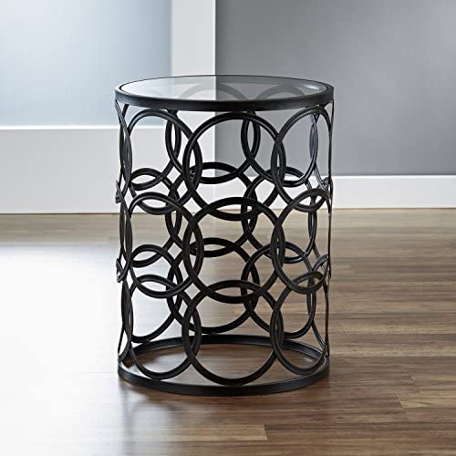 FirsTime Co. Interlocking Circles Side Accent Table, 22 H x 16.75 W x 16.75 D, Oil Rubbed Bronze