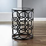 Drum End Table Sale InnerSpace Luxury Products BTGCIR Accent Table, Oil Rubbed Bronze