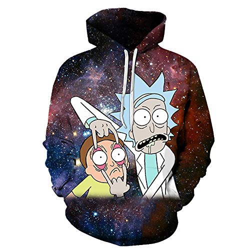 Lichee Boys' 3D Printed Hoodies Cartoon Pullover Funny Anime Long Sleeve Pocket Sweatshirt