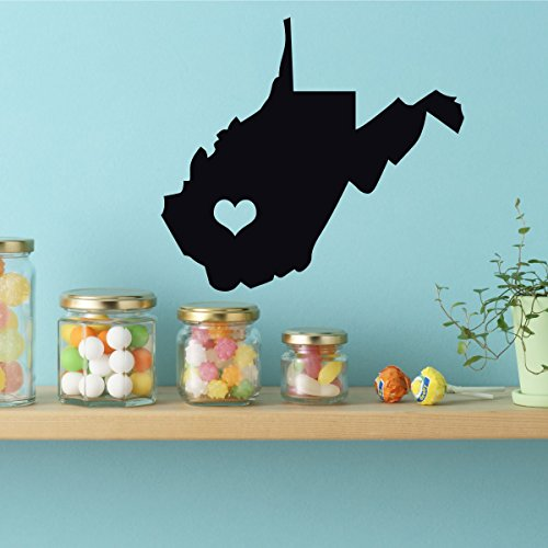 West Virginia State - Vinyl Wall Decor, 35th State, Charleston West Virginia, West Virginia State,