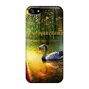 Kimmith OSELi2086uqEuI Case Cover Skin For Iphone 5/5s (the Nymph Of The Black Swan)