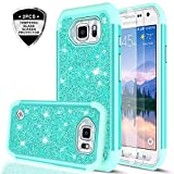 Galaxy S6 Active Glitter Case with Tempered Glass Screen Protector [2 Pack], LeYi
