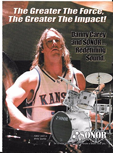 Sonor Drums - Danny Carey of Tool - 2004 Print Advertisement (Danny Carey Snare)