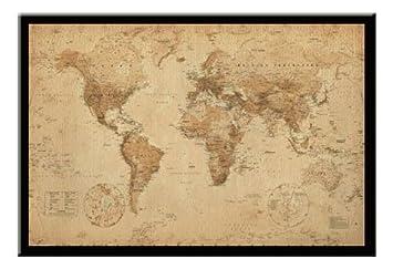 Ye olde world map pin board framed in black wood includes pins ye olde world map pin board framed in black wood includes pins 965 x 66 gumiabroncs Gallery