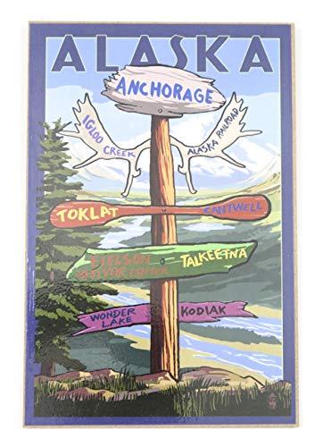 Alaska Anchorage Wood Art Souvenir Gift Wall Decor.